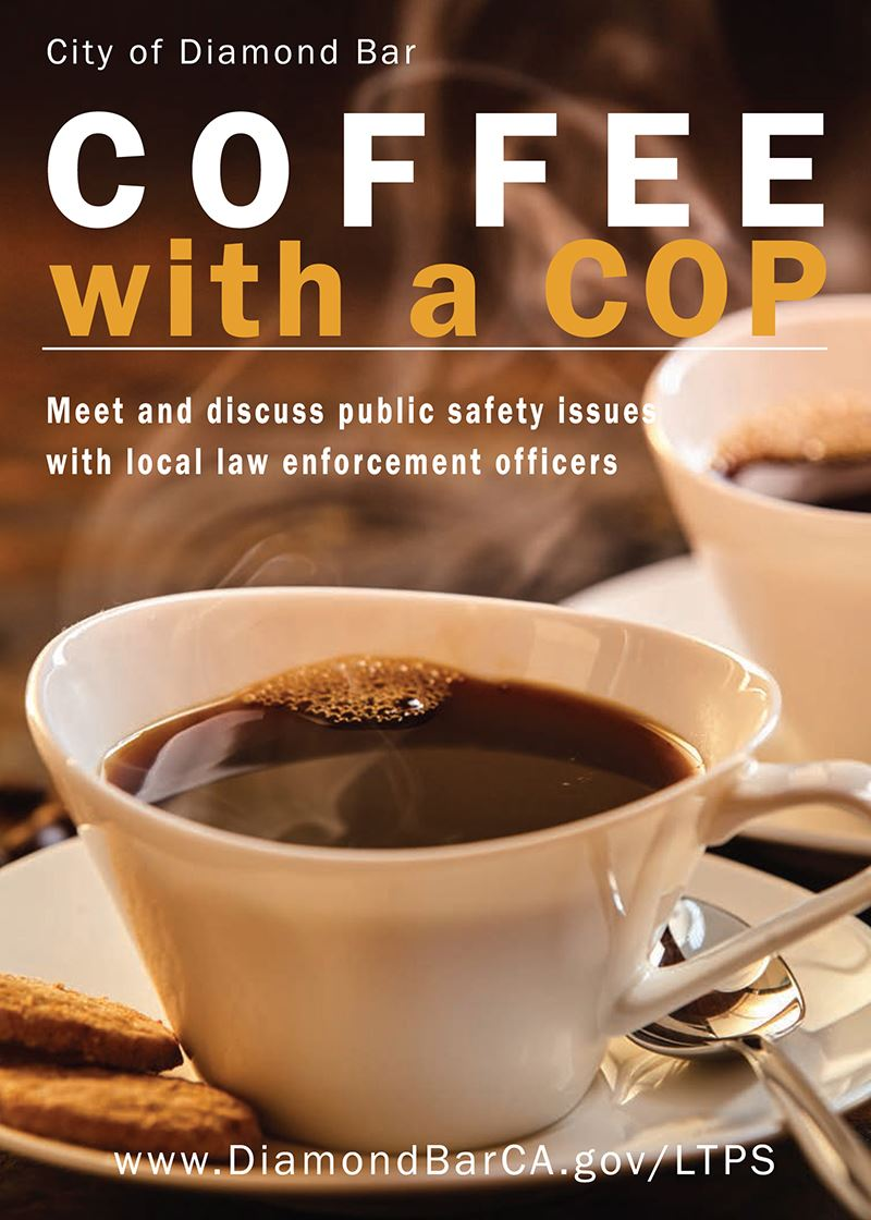 Coffee with a Cop Front Postcard